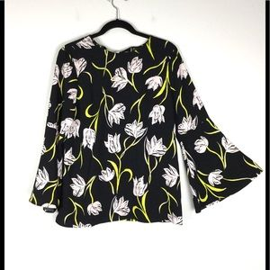 Halogen Floral Popover  Tunic Top